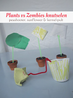 Plants vs Zombies - peashooter, sunflower and kernel-pult