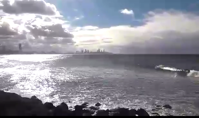 View of Surfers Paradise from Burleigh Heads (Sorry for the bad quality)