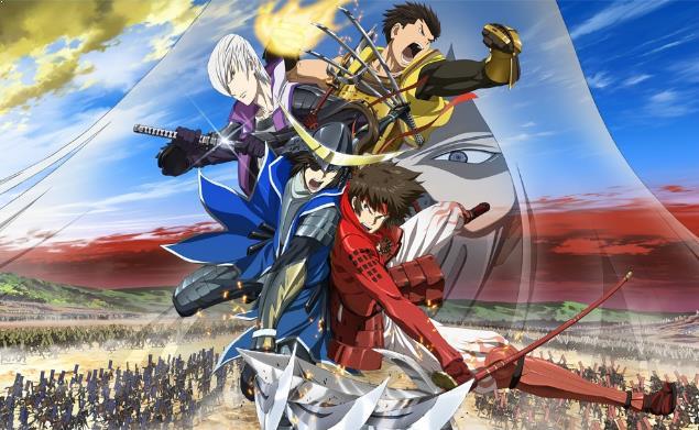 Sengoku Basara Series - Top Best War Anime List (From Medieval, Modern to Future War)