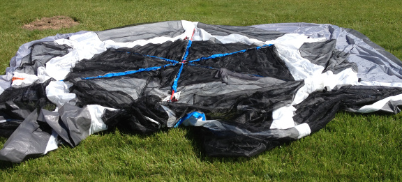 Remember you have both a tent and a rain fly. The tent is largely screen mesh the fly is blue and solid. Put the fly aside for now. & Wonders of New York: TGT-1415C-1 Embark 9 Person Tent by HKD ...