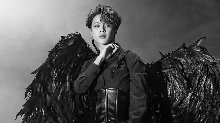 bts jimin black wings map of the soul 7 uhdpaper.com 4K 6.682 wp.thumbnail