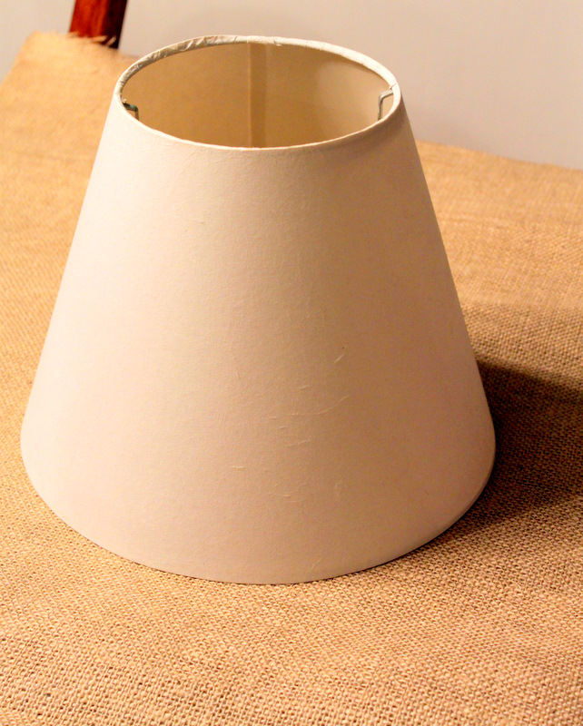 Burlap Covered Lamp Shade Tutorial, Large Drum Lamp Shade Ikea