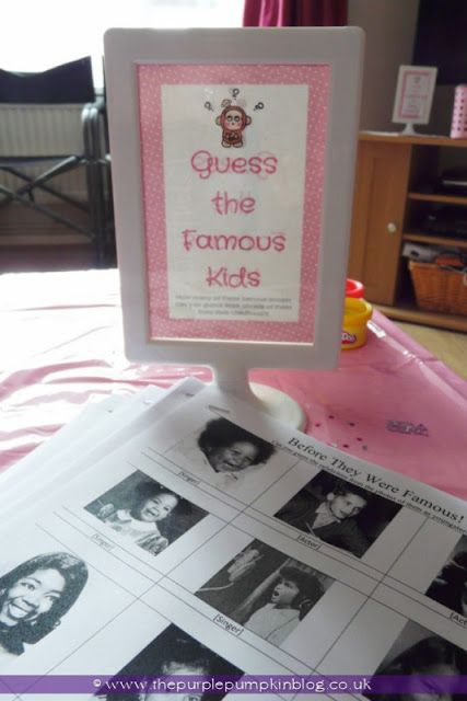 Guess The Famous Kids Game for a Baby Shower at The Purple Pumpkin Blog