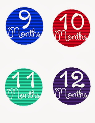 FREE Monthly Baby Stickers