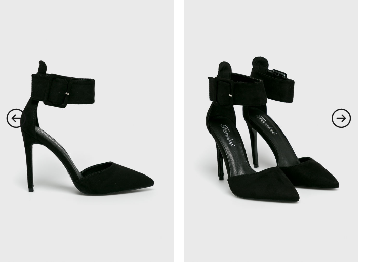 Answear - Pantofi cu toc eleganti de ocazie deupati cu bareta pe glezna negri