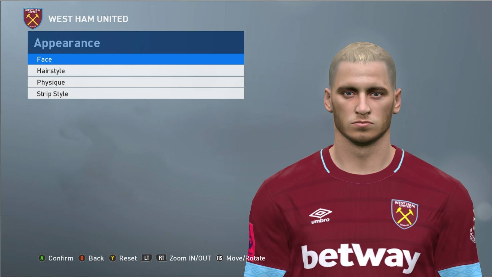 PES 2017 arnautovic Face by ABW_FaceEdit