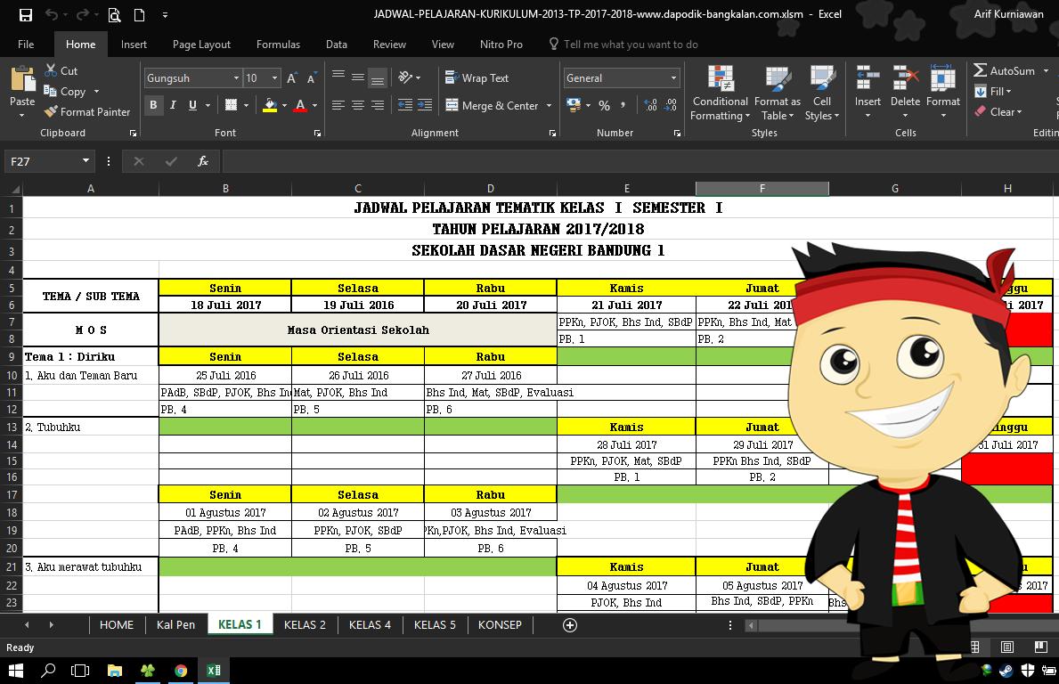 Download Aplikasi Jadwal Pelajaran Kurikulum 2013 K13