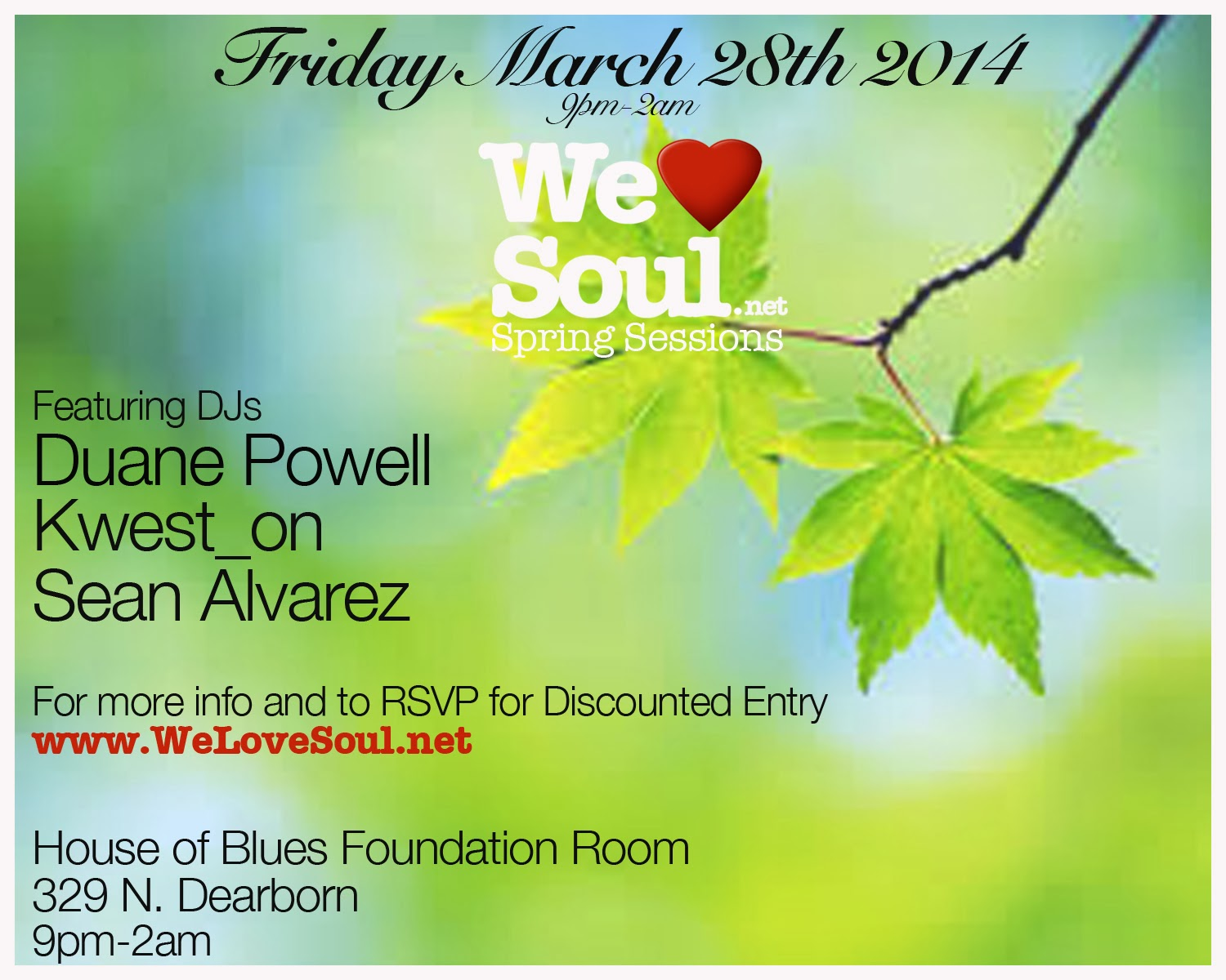 WLS Friday 3/28 @ HOB Foundation Room