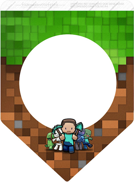 Minecraft Party Free Printable Banner.