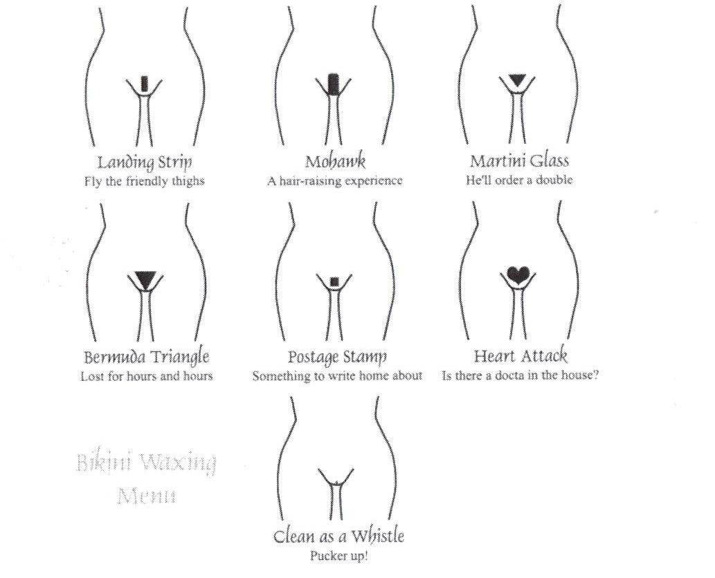 G-wax bikini and brazilian wax styles