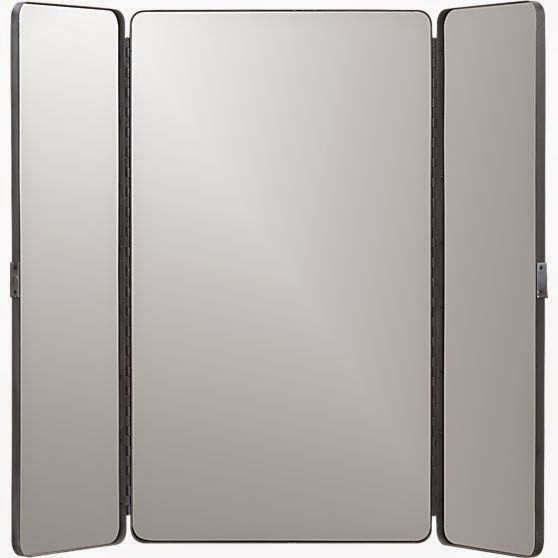 For Bedroom Bathroom Or Office It Will Provide A Three Way Display As An Open Triptych With Panels Angled Side Reflections Closed Behind Its Matte