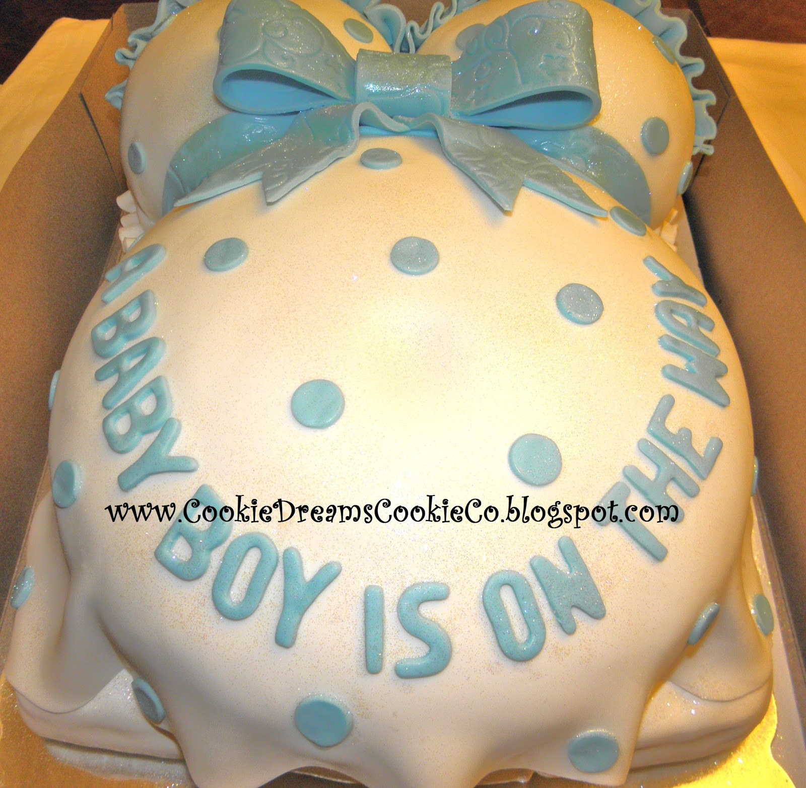 Cookie Dreams Cookie Co Pregnant Belly Cake