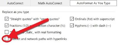 Cara Menonaktifkan Hyperlink Otomatis di Ms. Word