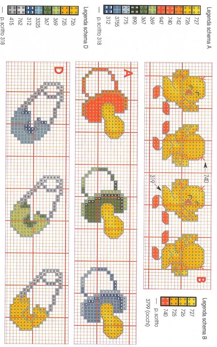 abbastanza Grande raccolta di Schemi e grafici per Punto croce free: Fiocchi  ZQ92