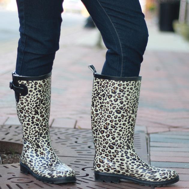 Leopard Rain Boots