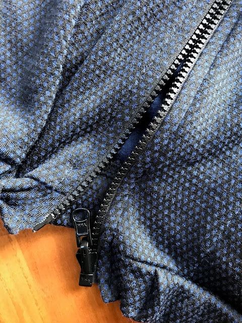 Diary of a Chain Stitcher: Honeycomb Merino Stoff & Stil Sports Jacket
