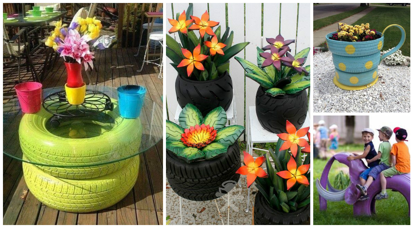 10 ideas incre bles para reciclar llantas viejas de autos for Reciclaje jardin y decoracion