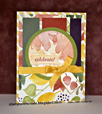 Stampin' Up! Fall card by Trude Thoman stampwithtrude.blogspot.com Uses For All Things and And Many More stamp sets