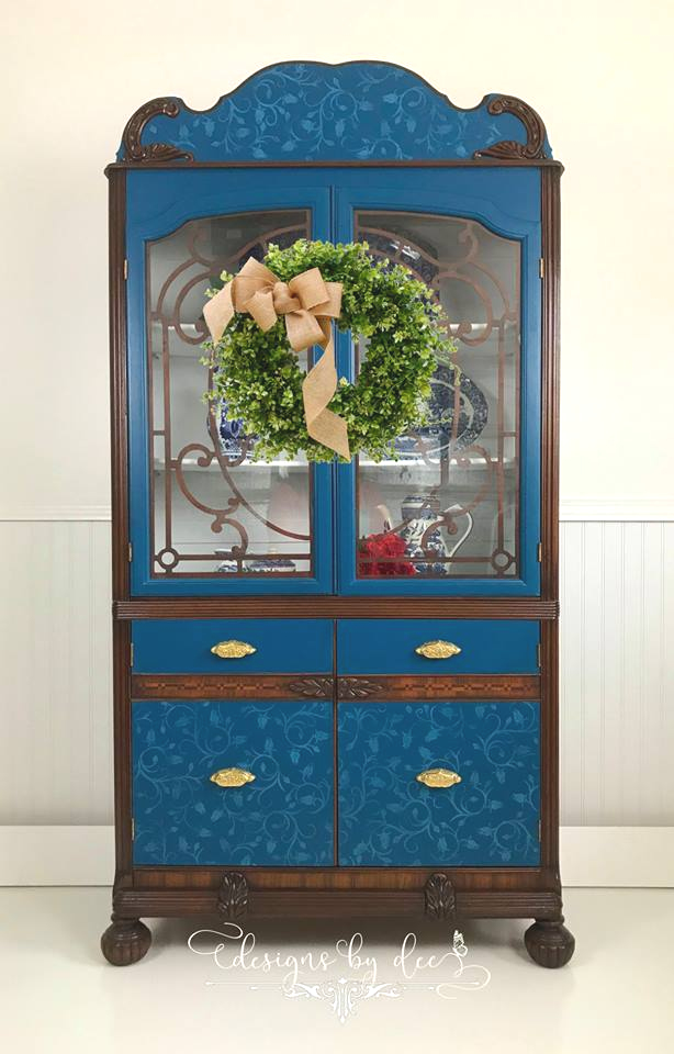 china cabinet with cup pulls