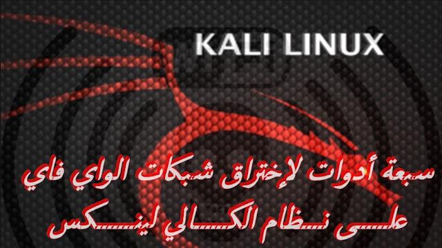أخطر 7 أدوات لإختراق الشبكات الواي فاي بواسطة توزيعة الكالي لينكي Kali linux