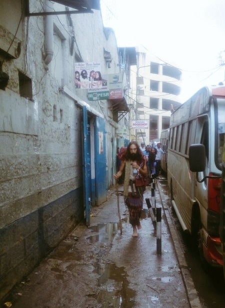 Excitement in Kenya as 'Jesus' is Spotted Walking on the Streets Barefooted (Photos)