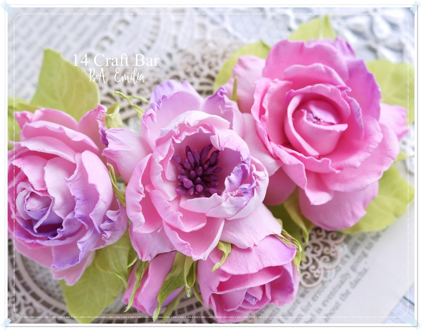 Silk Foam Flowers In Pink By Lady E 14 Craft Bar