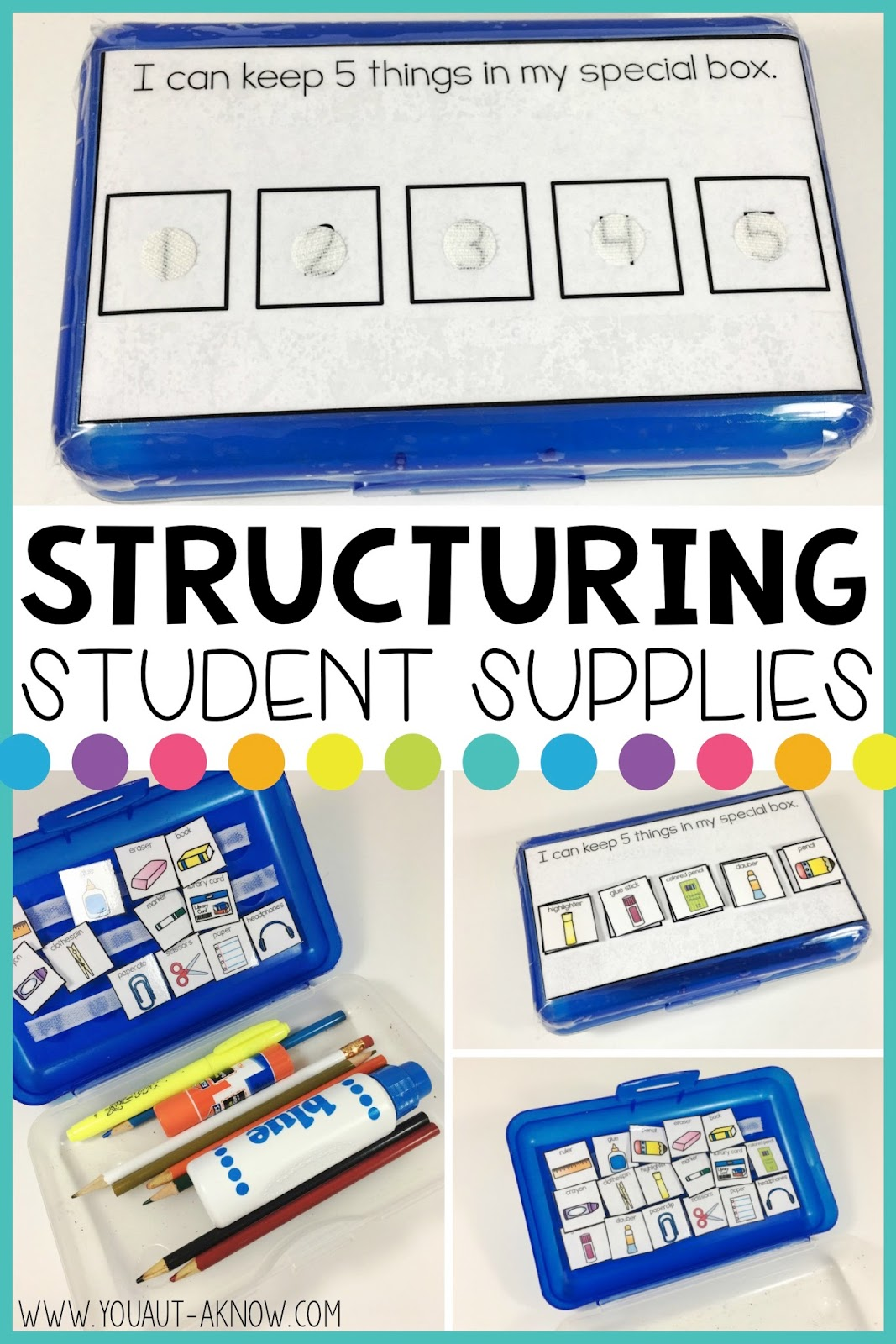 Do you have students who struggle to organize their classroom supplies? Even their pencil box ends up a black hole of supplies? Check out this simple way to help students visually organize their classroom supplies.