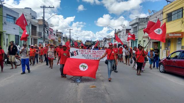 Protesto contra reformas do governo Temer em Goiana