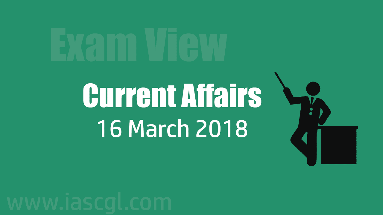 Current Affair 16 march 2018