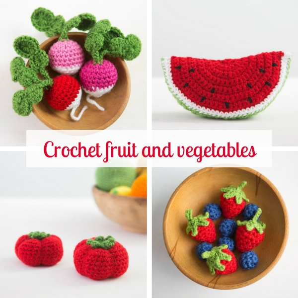 Get creative: crochet some fruit and vegetables | Happy in Red