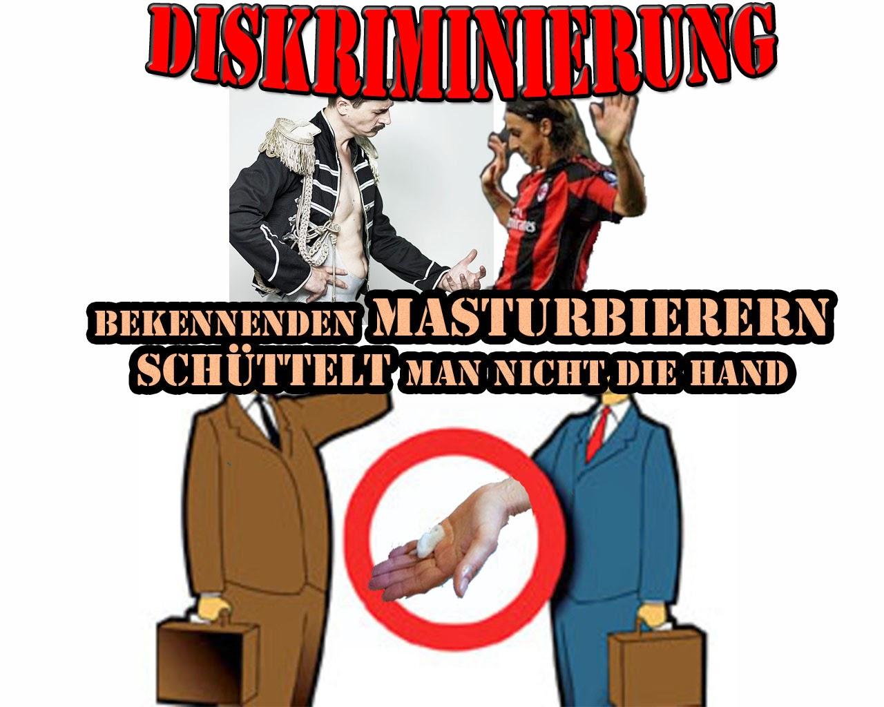Lustige Diskriminierung - Masturbierern nicht die Hand schütteln Satire