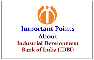 Important Points to know about Industrial Development Bank of India (IDBI)