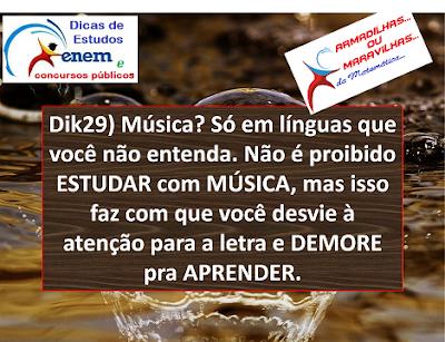 Dik29: Estudar Com Música Demora Aprender E Memorizar