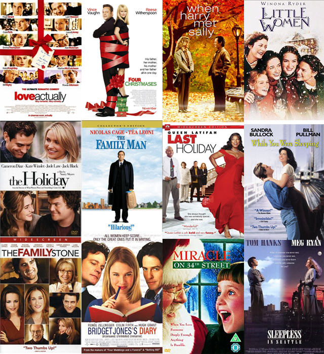 12 Christmas Romantic Comedies