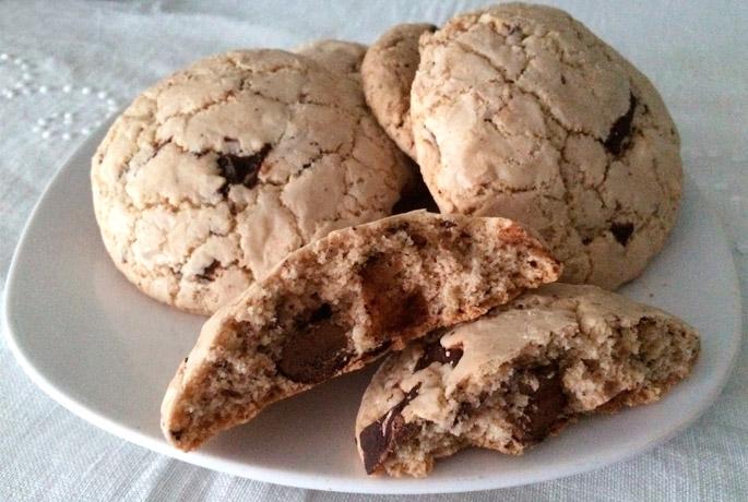 Cookies americanas caseras, tamaño XL