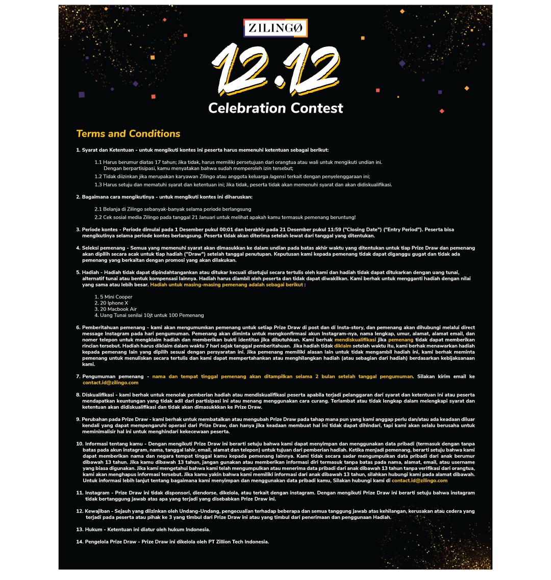 Zilingo - Promo Diskon s.d 90% di 12.12 Celebration + Kontest (s.d 21 Des 2018)