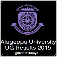 Alagappa University UG Results 2015