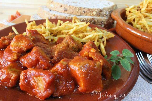 Carne con tomate. Julia y sus recetas
