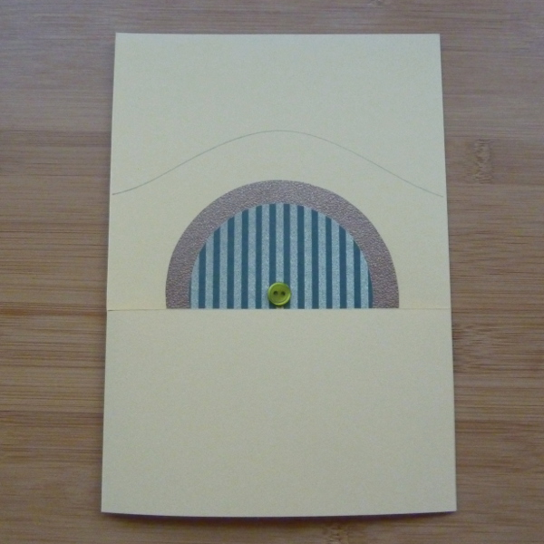 Start to assemble the handmade Hobbit inspired DIY greeting card