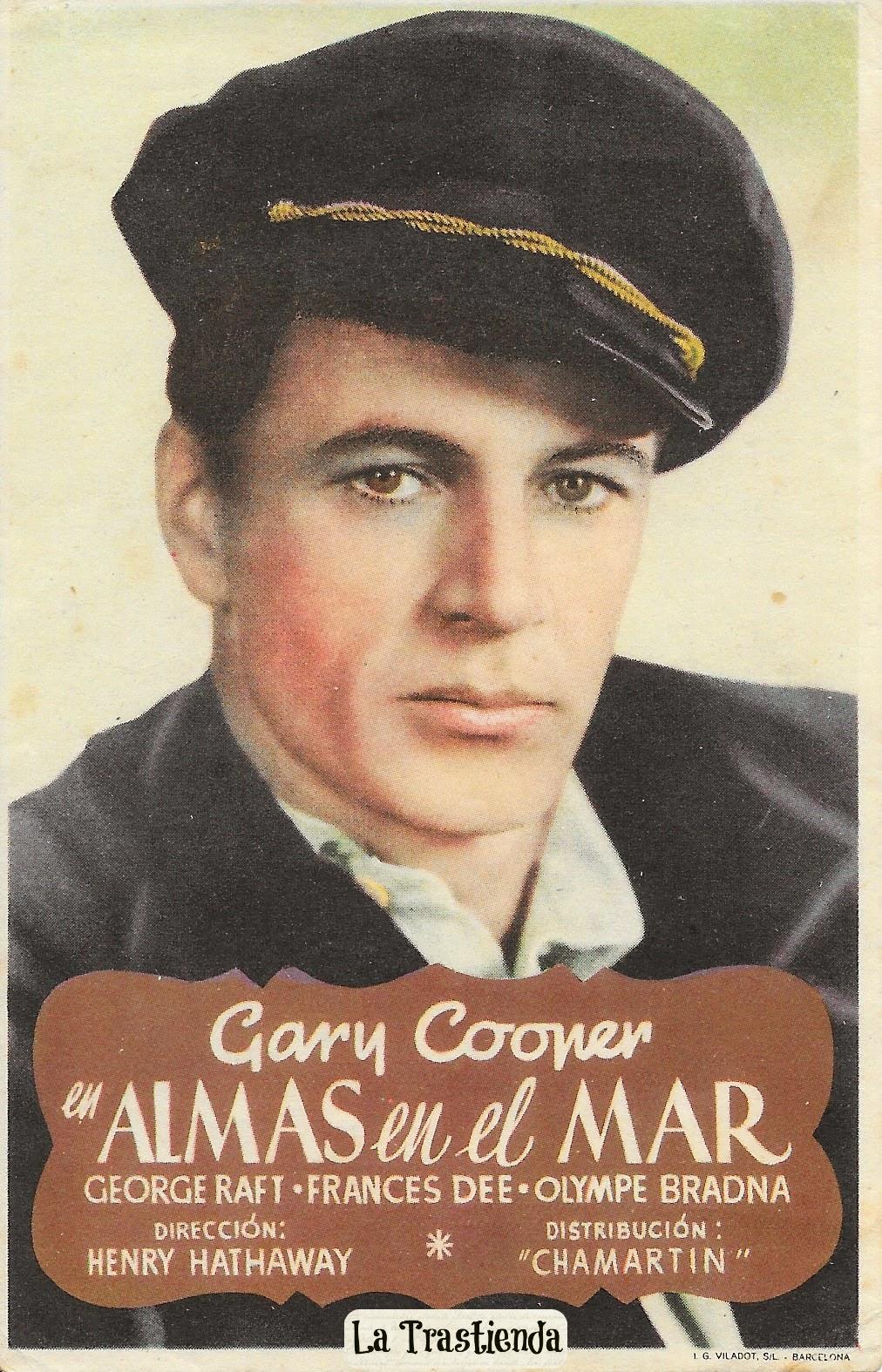 Programa de Cine - Almas en el Mar (Vertical) - Gary Cooper - George Raft