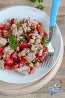 Sałatka z tuńczykiem i pomidorami