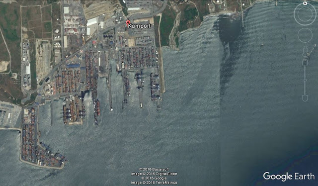 Map Attribute: Kumport Container Terminal, Turkey / (c) 2016 TerraMetrics, DigitalGlobe, BasarSoft, and Google