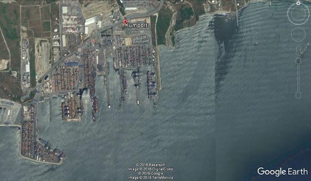 Map Attribute: Kumport Container Terminal, Turkey / (c) 2016 TerraMetrics, DigitalGlobe, BasarSoft, and Google