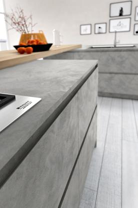cuisine design grise sans poign es. Black Bedroom Furniture Sets. Home Design Ideas