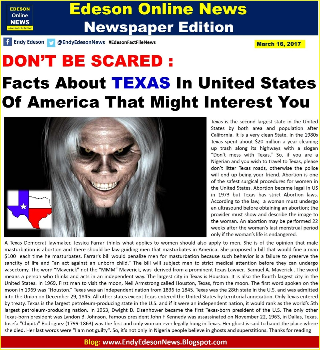 Edeson Online News Facts About Texas In United States Of