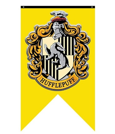 Top 20 Harry Potter Wishlist Items that I need in my life Hogwarts hufflepuff crest banner