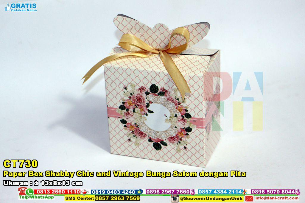 Paper Box Shabby Chic And Vintage Bunga Salem Dengan Pita ...