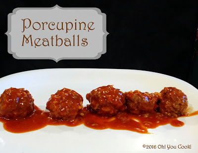 Featured Recipe | Porcupine Meatballs from Oh! You Cook! #recipe #SecretRecipeClub #beef #rice #maindish