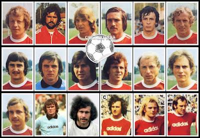 Bergmann sammelbilder Bayern Munchen 1974/75
