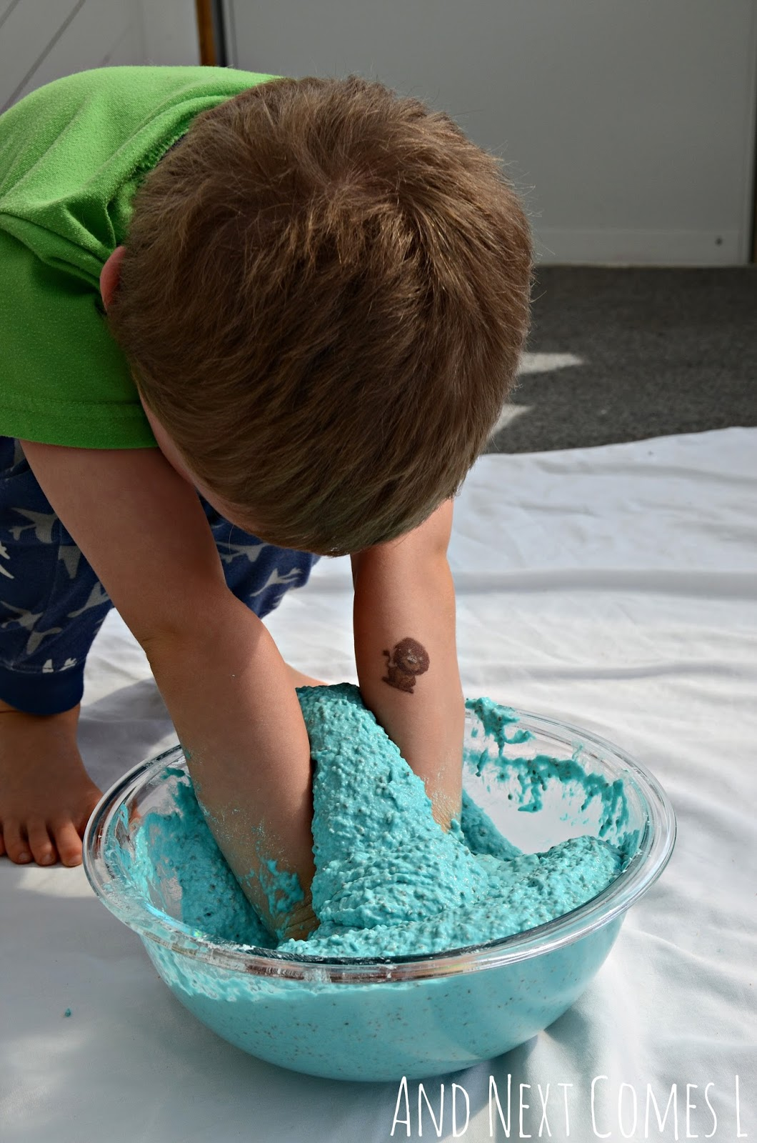 Play With Patterns Prints And Lots Of Accessories For: Edible Sludge Sensory Play